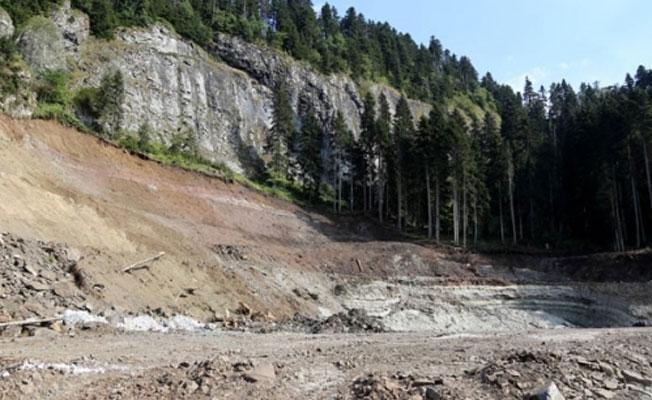 Cerattepe'de tahribat başladı: 2 bin 500 ağaç kesildi, dereler gri akıyor