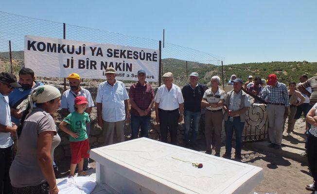 Dersim'de katledilen 24 kişi için anıt mezar