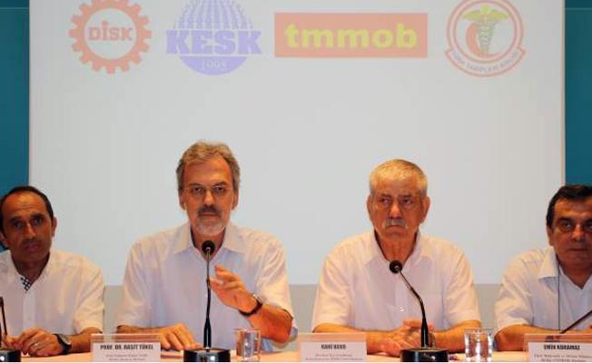 KESK, DİSK, TMMOB ve TTB Adalet Bakanlığı'ndan yanıt bekliyor