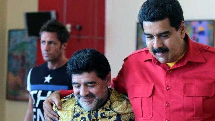 Maradona: Özgür Venezuela için bir asker gibi savaşırım