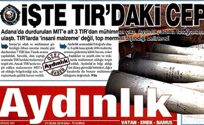 MİT TIR'larına yeni iddianame : Aydınlık'ın iki çalışanına 10 yıla kadar hapis talebi