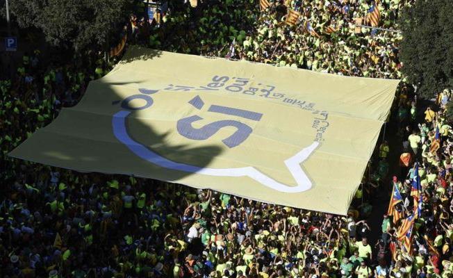 Barcelona'da bağımsızlık gösterisi