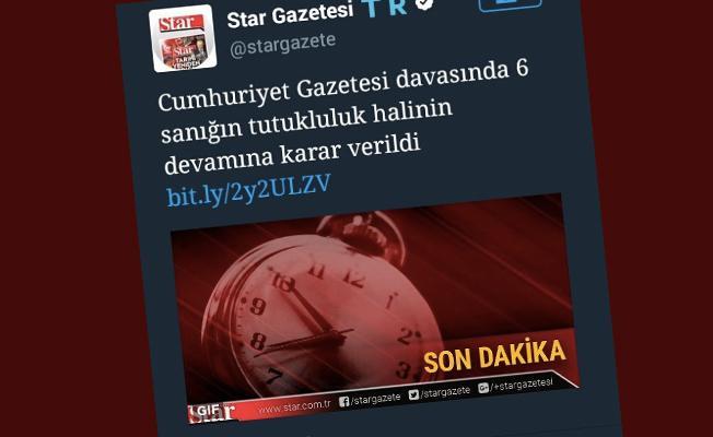 Cumhuriyet davasında skandal: Star ve Akşam hakkında suç duyurusunda bulunulacak
