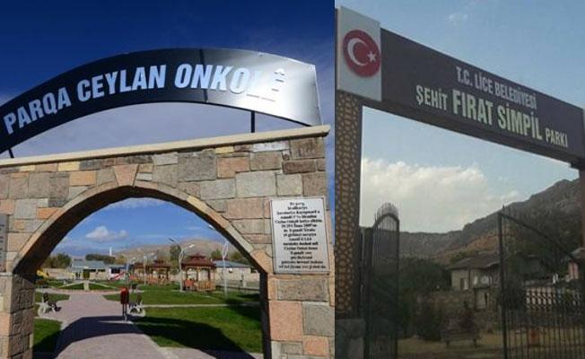 Lice Belediyesi kayyımı, Ceylan Önkol Parkı'nın adını kaldırdı