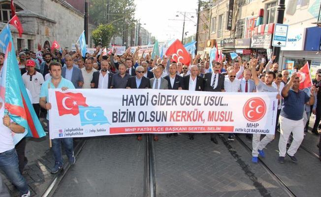 MHP'den Beyazıt'ta Kerkük yürüyüşü