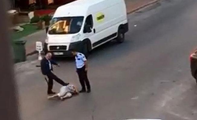 Antalya'da sokakta kadını döven polise tahliye