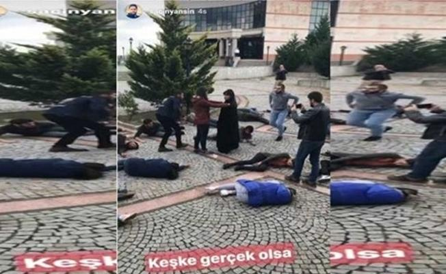 DHA muhabiri, 10 Ekim katliamı canlandırmasına 'Keşke gerçek olsa' dedi