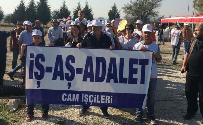 İstanbul'a yürüyen cam işçileri destek bekliyor