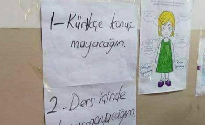 Kürtçe yasağı sessizliği sağlamak içinmiş!