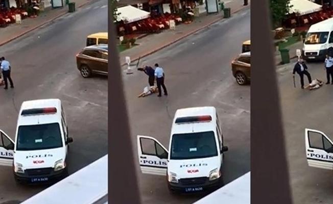 Sokak ortasında bir kadını darp eden polislerin 4.5 yıla kadar hapsi isteniyor