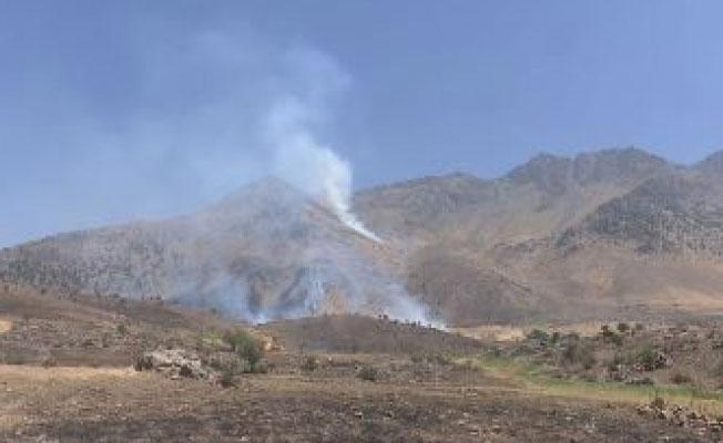 Süleymaniye dağları havadan bombalandı