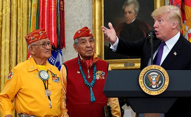 Trump'tan Kızılderilileri onurlandırma töreninde 'ırkçı' gaf