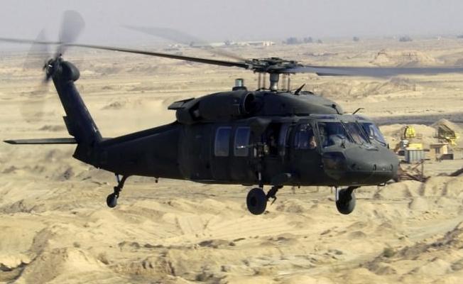 Suudi Arabistan'da üst düzey yetkilileri taşıyan helikopter düştü