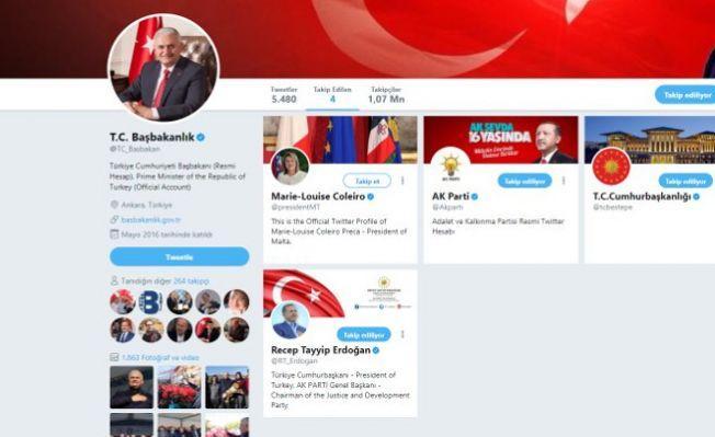 Yıldırım'ın takip ettiği tek yabancı lider Malta Cumhurbaşkanı
