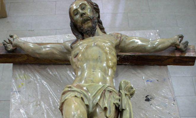 '300 yıllık İsa heykelinde bir not bulundu'