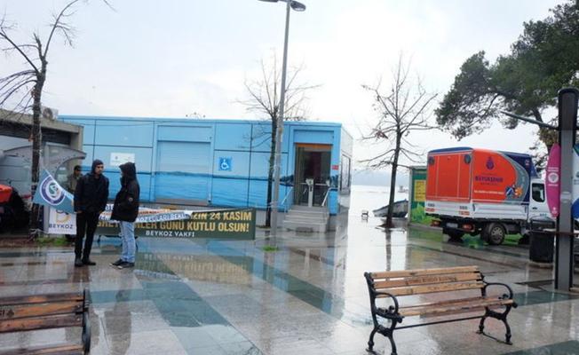 İBB, Boğaz'ın güzel bir noktasına konteyner tuvalet kurdu!