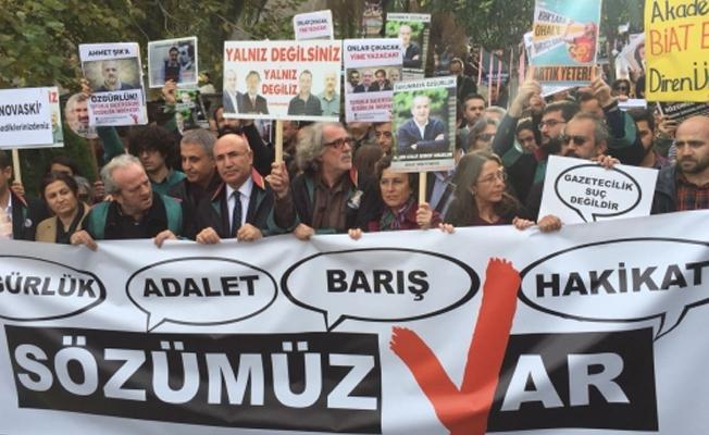 'Sözümüz Var' eyleminde polis yürüyüşe izin vermedi