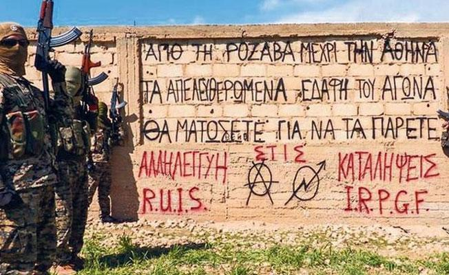 Yunanistan'da gündem: Rojava'daki anarşistler