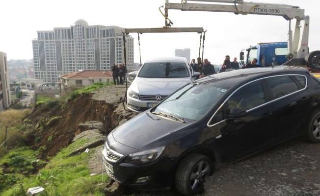 Ataşehir'de toprak kayması