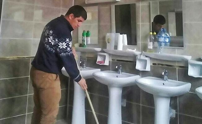 Avrupa şampiyonu işitme engelli sporcuya paspas yaptırıyorlar