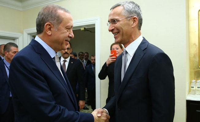 Erdoğan, Jens Stoltenberg'le görüştü
