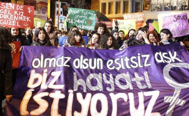 Kadınlardan Sevgililer Günü protestosu: Olmaz olsun eşitsiz aşk