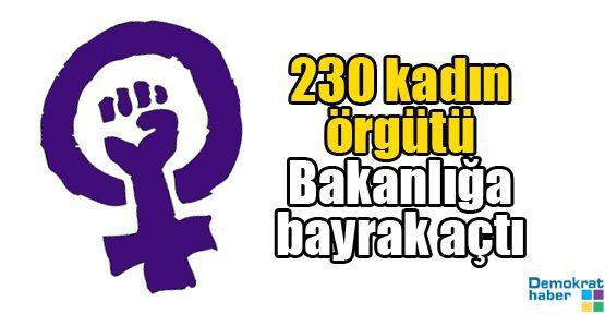 230 kadın örgütü Bakanlığa bayrak açtı