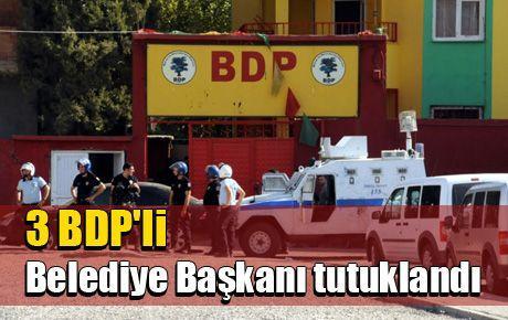 3 BDP'li Belediye Başkanı tutuklandı