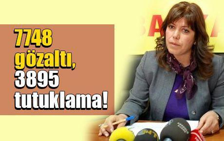 7748 gözaltı, 3895 tutuklama!