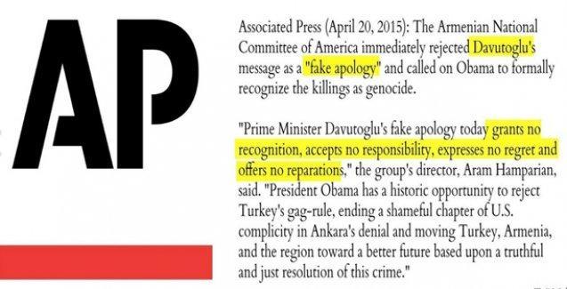 ABD'li Ermeniler Davutoğlu'nun 1915 mesajına 'sahte özür' dedi
