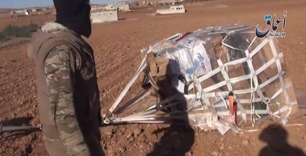 ABD'nin Kobani'ye havadan bıraktığı silah paketlerinin biri IŞİD'de
