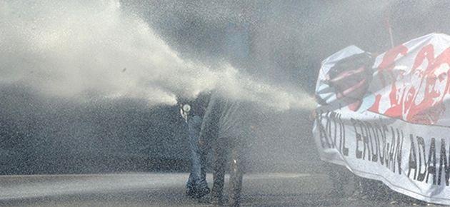 Adana'da Başbakan protestosuna sert müdahale