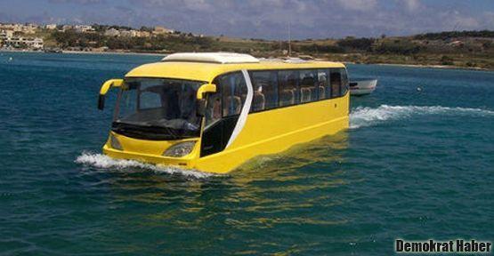 Adana'da otobüsler suda gidecek