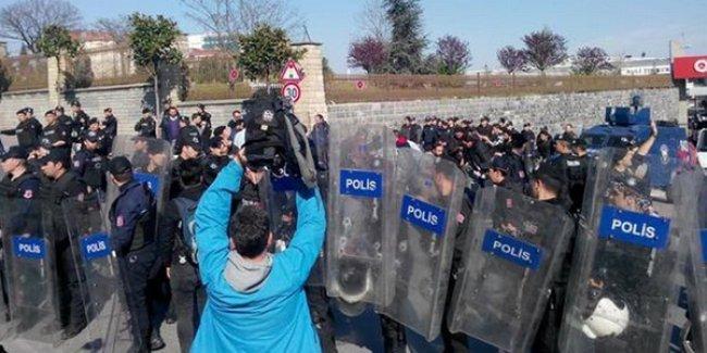Adli Tıp Kurumu önünde 40'ı aşkın gözaltı ve basına saldırı!