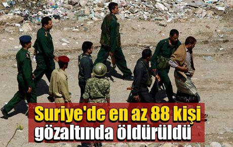 Af Örgütü: Suriye'de en az 88 kişi gözaltında öldürüldü