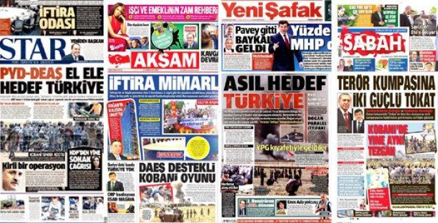 AKP'ye yakın medya: PYD ve IŞİD örtülü ortak, hedef Türkiye