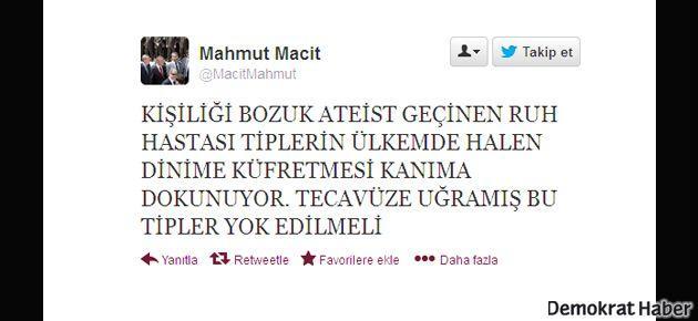 AKP'li Macit: Ateistler yok edilmeli