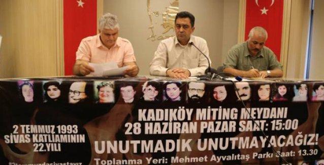Alevi örgütlerinden Kadıköy'deki Madımak mitingine katılım çağrısı