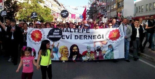 Aleviler Maltepe'de yürüdü, kaymakama tepki gösterdi