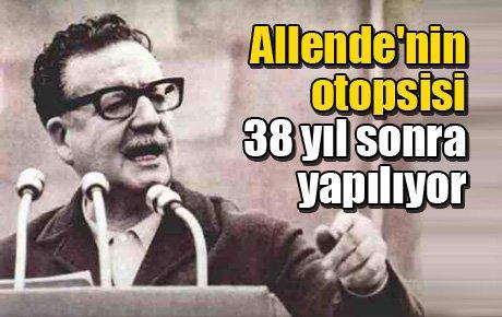 Allende'nin otopsisi 38 yıl sonra yapılıyor