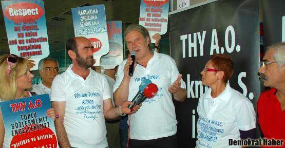 Almanya Sol Parti'den THY çalışanlarına destek!