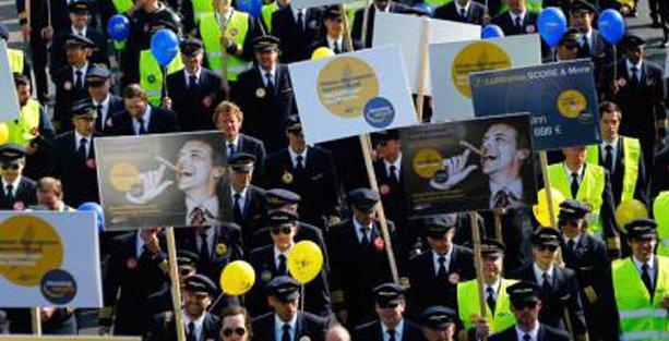 Almanya'da pilotlar 10. kez greve çıktı