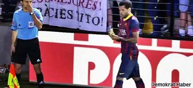 Alves'e muz atan taraftar gözaltında