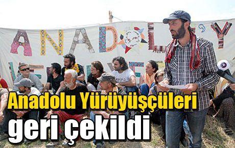 Anadolu Yürüyüşçüleri geri çekildi
