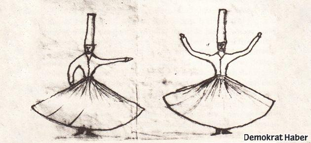 Andersen, Osmanlı dervişlerini çizmiş