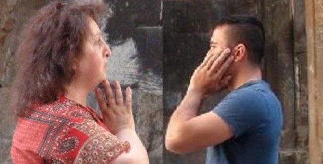 Ani Harabeleri'nde dua eden Ermeni müzisyenin karşısına geçip ezan okudu