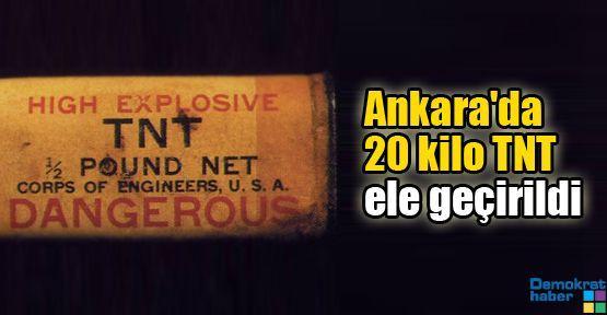 Ankara'da 20 kilo TNT ele geçirildi