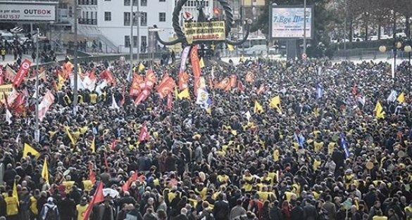 Ankara'da miting: Saraylar değil ekmeğimiz büyüsün!