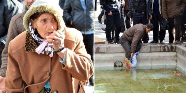 Gökçek'in zabıtaları kuşyemi satan yaşlı kadının parasını havuza attı