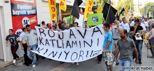 Antalya'da Rojava için yürüyüş